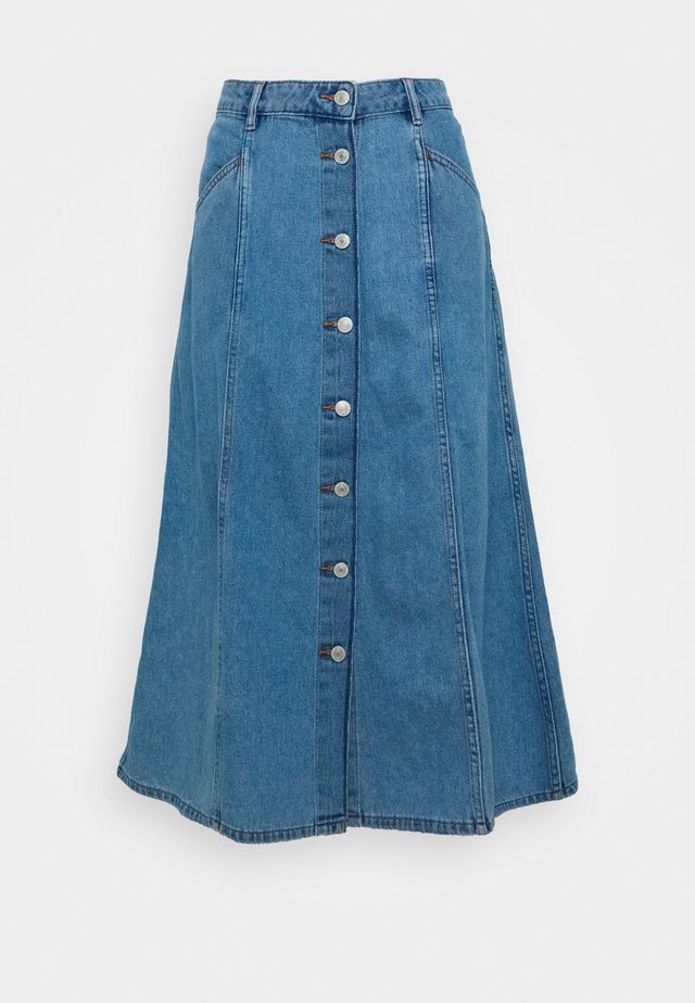 BYLYRA SKIRT - Jeansskjørt - ligth blue denim