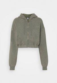 BDG Urban Outfitters - SUPER CROP ZIP HOODIE - Zip-up hoodie - sage - 6