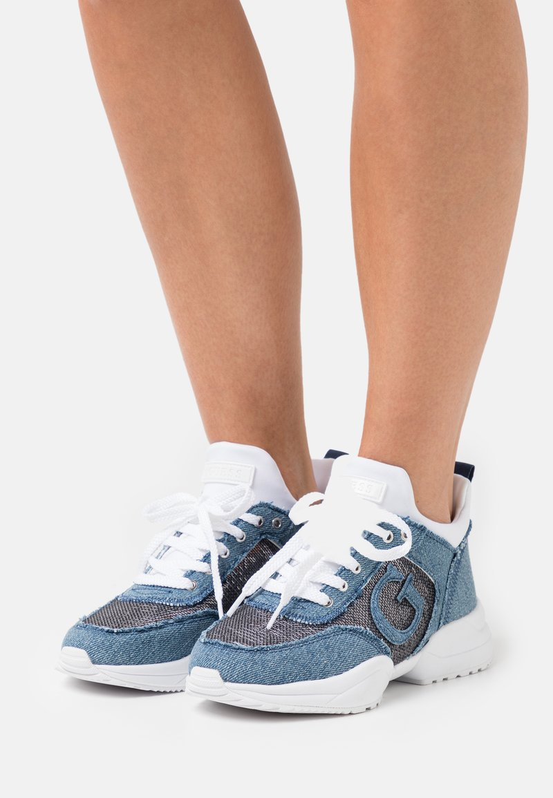 Guess - BELTIN - Trainers - blue