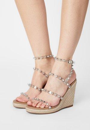 MALI - Platform sandals - clear