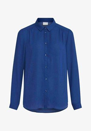 Button-down blouse - mazarine blue