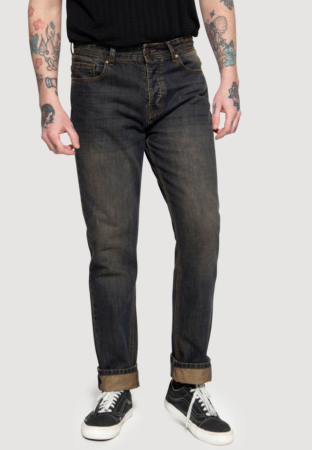 Relaxed fit jeans - rostbraun