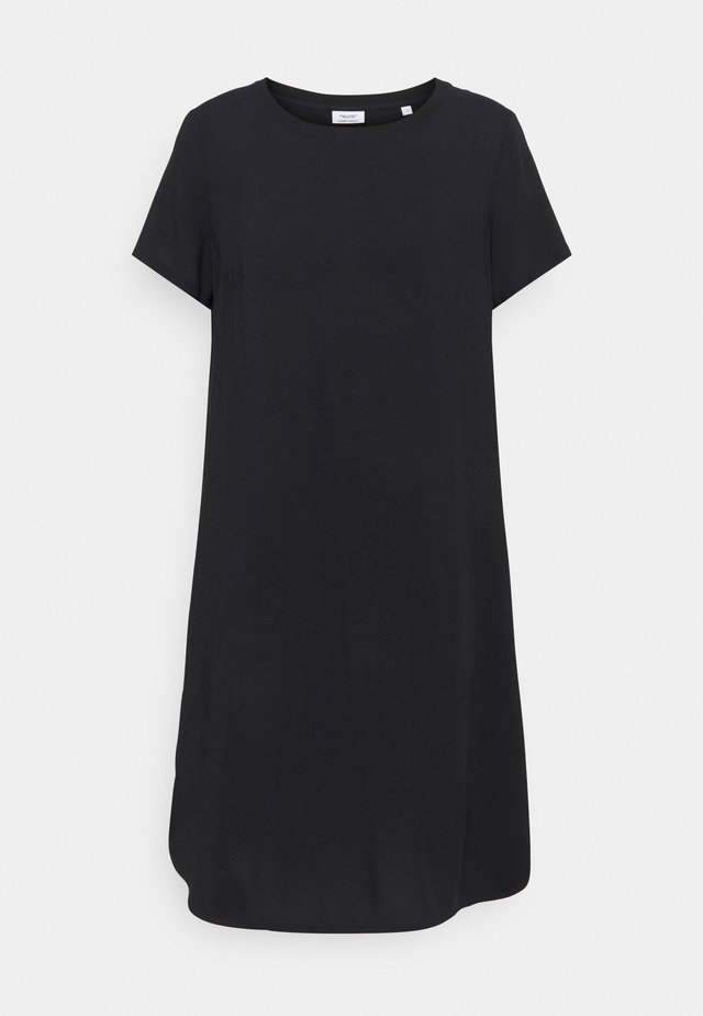 SLEEVE DRESS - Jersey dress - black