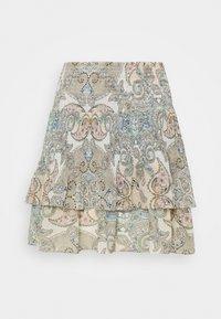 ONLY - ONLALLY SMOCK LAYERED SKIRT - Mini skirt - kalamata/desert - 3