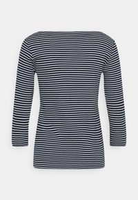 TOM TAILOR - STRIPE BOAT NECK - Long sleeved top - navy/white - 1