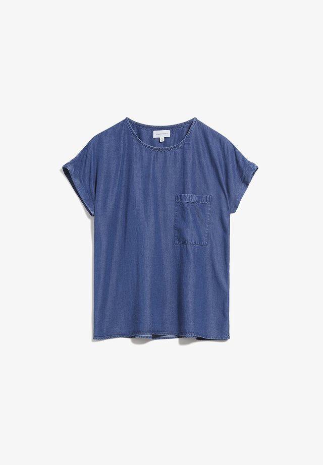 AJALAA - Blouse - basic denim blue