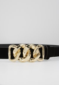 Pieces - PCCHAIN WAIST BELT  - Pásek - black/gold-coloured - 2