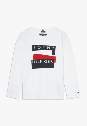 STICKER - Long sleeved top - white
