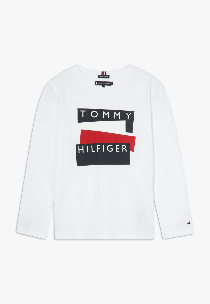 Tommy Hilfiger - STICKER - Long sleeved top - white