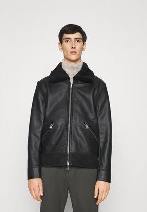 STERLING SHEARLING JACKET - Leather jacket - black
