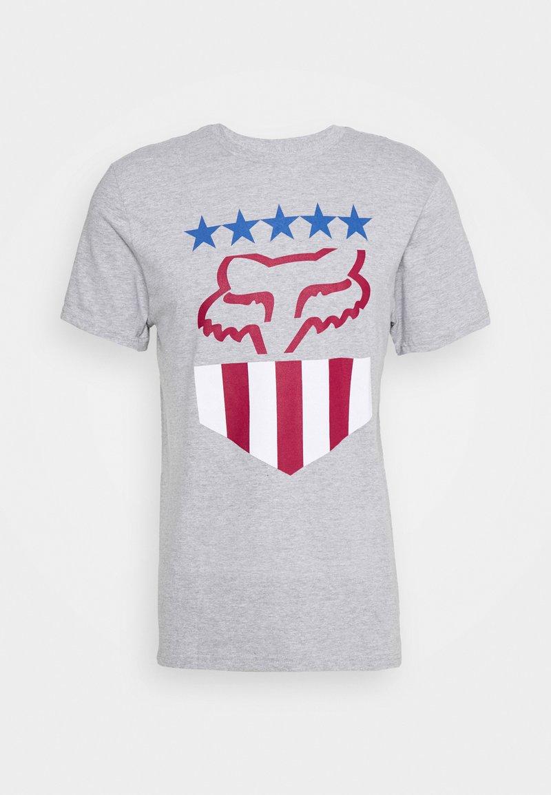 Fox Racing - FREEDOM SHIELD TEE - T-Shirt print - mottled grey