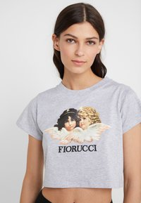 Fiorucci - VINTAGE ANGELS CROPPED TEE - Print T-shirt - heather grey - 4