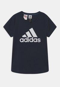 adidas Performance - LOGO UNISEX - Print T-shirt - dark blue/white - 0