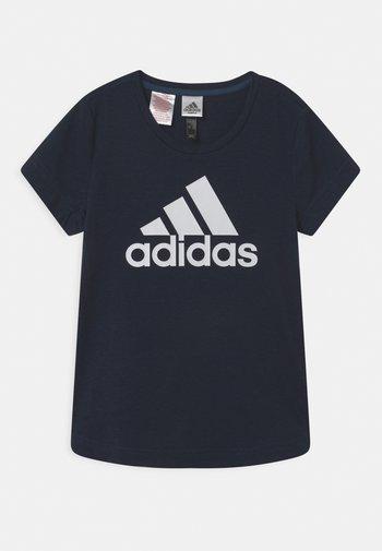 LOGO UNISEX - Print T-shirt - dark blue/white