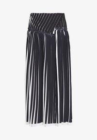 KNIFE PLEATED SKIRT - Maxi skirt - black/white
