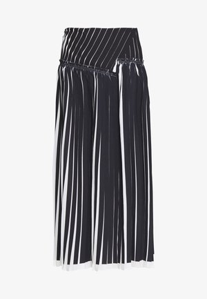 KNIFE PLEATED SKIRT - Maxinederdele - black/white