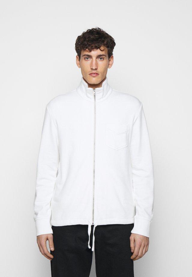 ZIP TERRY CARDIGAN - veste en sweat zippée - white