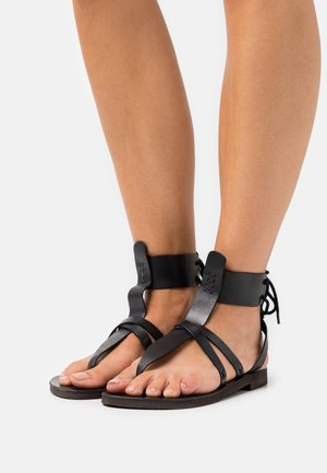 VACATION DAY WRAP  - T-bar sandals - black