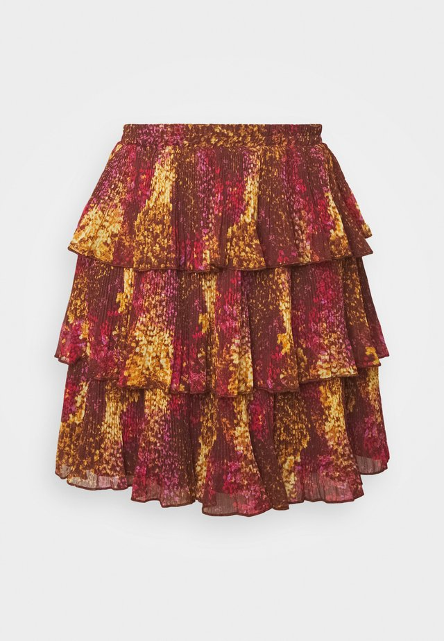 YASGYPSO SKIRT - Gonna a campana - rum raisin