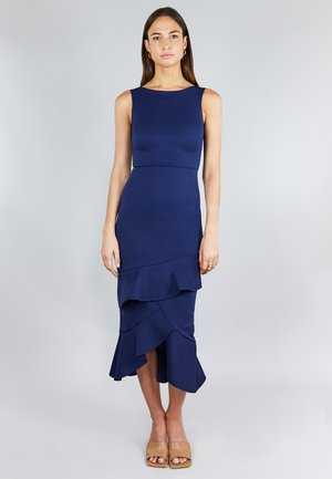 FRILL LAYER  - Cocktail dress / Party dress - dark blue