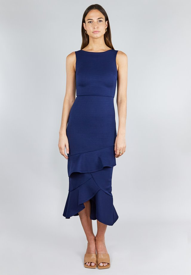 FRILL LAYER  - Cocktailjurk - dark blue
