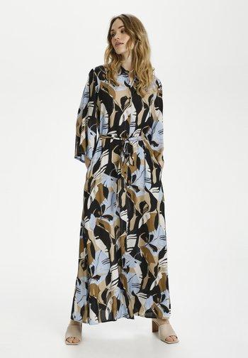 KAIMANA - Maxi dress - blue/ermine big leaf print