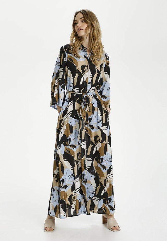 KAIMANA - Maxi-jurk - blue/ermine big leaf print