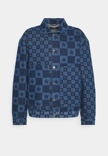 DISCHARGE STAR PRINT JACKET - Džínová bunda - blue