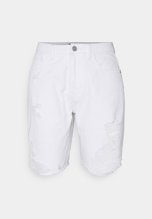 RIPPED SHORTS - Jeansshort - white