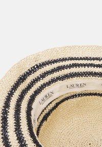 Lauren Ralph Lauren - STRIPE CROCHT BUCKET - Chapeau - natural/black - 3