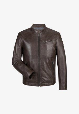 ODIN - Leather jacket - tabak