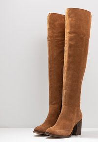 Anna Field - LEATHER BOOTS - Høye støvler - cognac