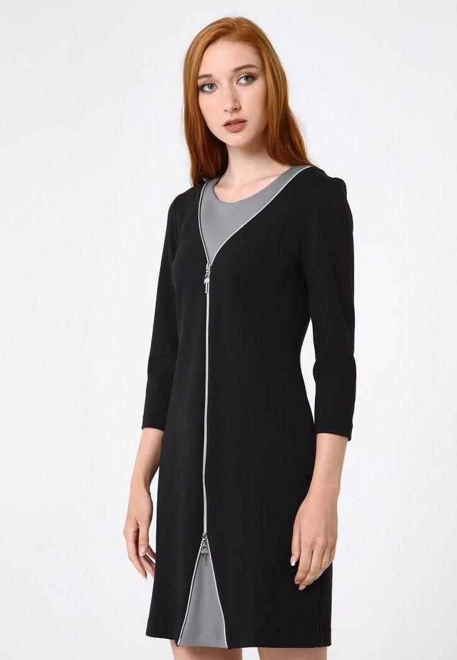Korte jurk - schwarzgrau