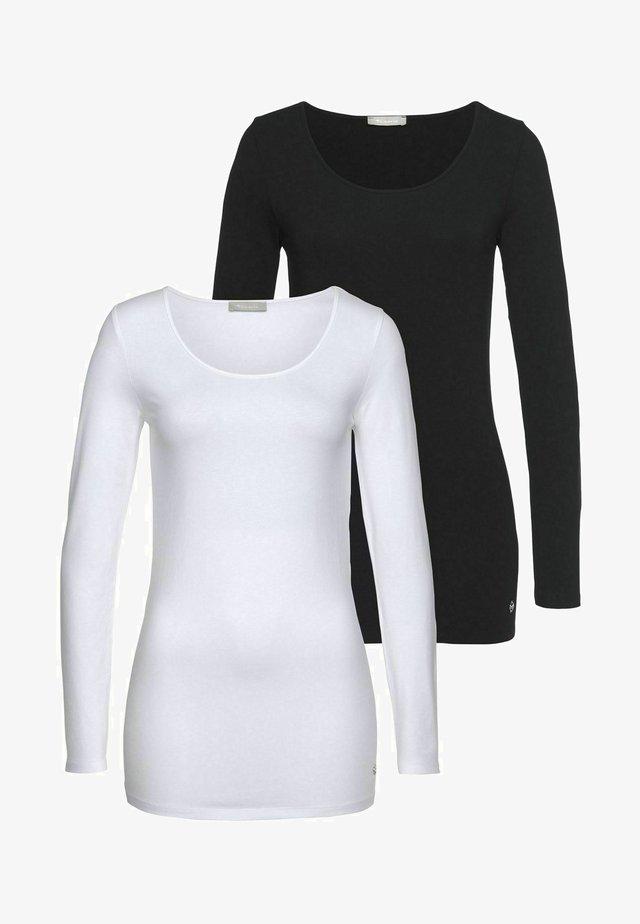 2 PACK - T-shirt à manches longues - schwarz weiß