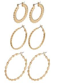 Topshop - TWIST HOOP 3 PACK - Earrings - gold-coloured - 2