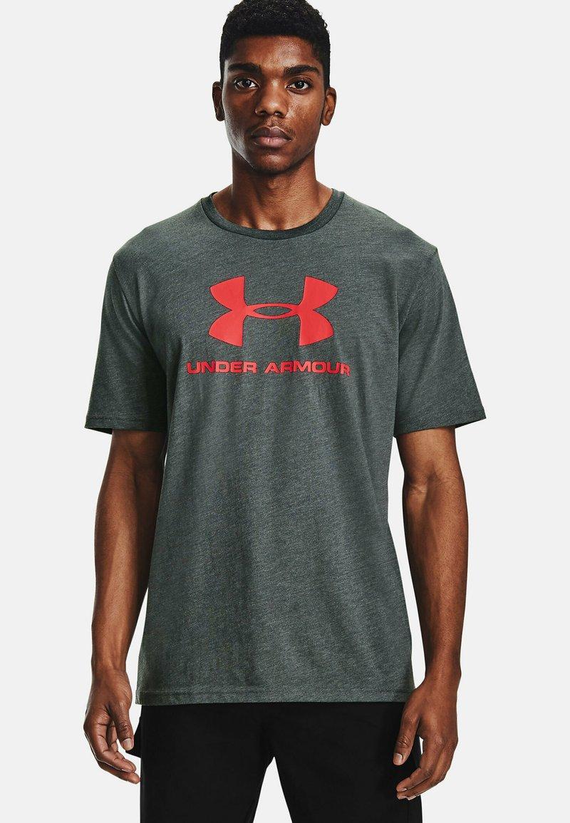 Under Armour - Print T-shirt - pitch gray medium heather
