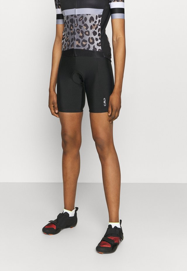 WOMAN BIKE SHORT PANT - Trikoot - nero