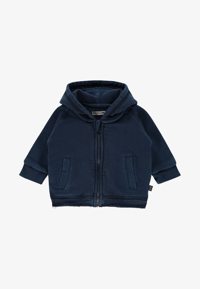 ARDROSSAN - Zip-up hoodie - indigo blue dyed