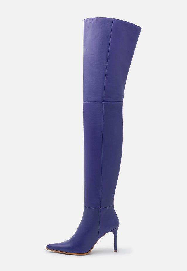 TIA THIGH POINT BOOT - Overknee laarzen - purple