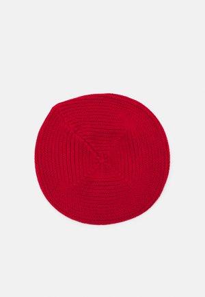 BERET HAT - Čepice - lipstick red