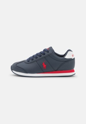 PONY  - Baskets basses - navy smooth/red