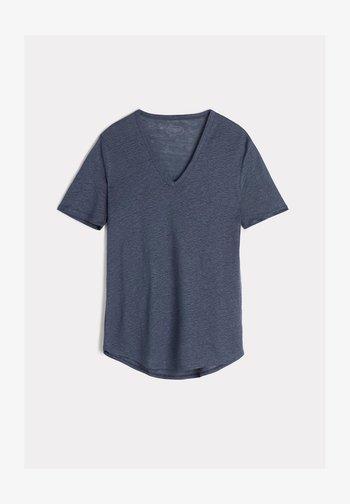 Basic T-shirt - blau - 416i - blue denim