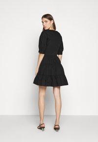 MICHAEL Michael Kors - V NECK PUFF DRESS - Day dress - black - 2