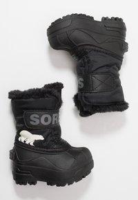 Sorel - CHILDRENS - Zimní obuv - black/charcoal - 0