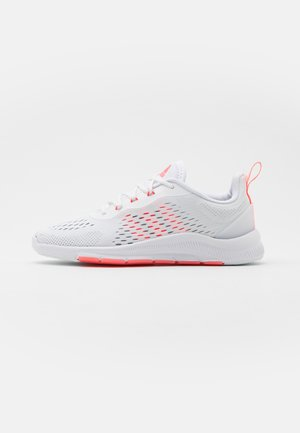 TRAINER X - Sports shoes - footwear white/signal pink/grey two