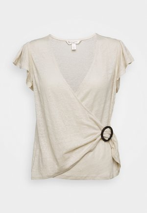 WRAP WITH TORTOISE HARDWARE - Print T-shirt - sand