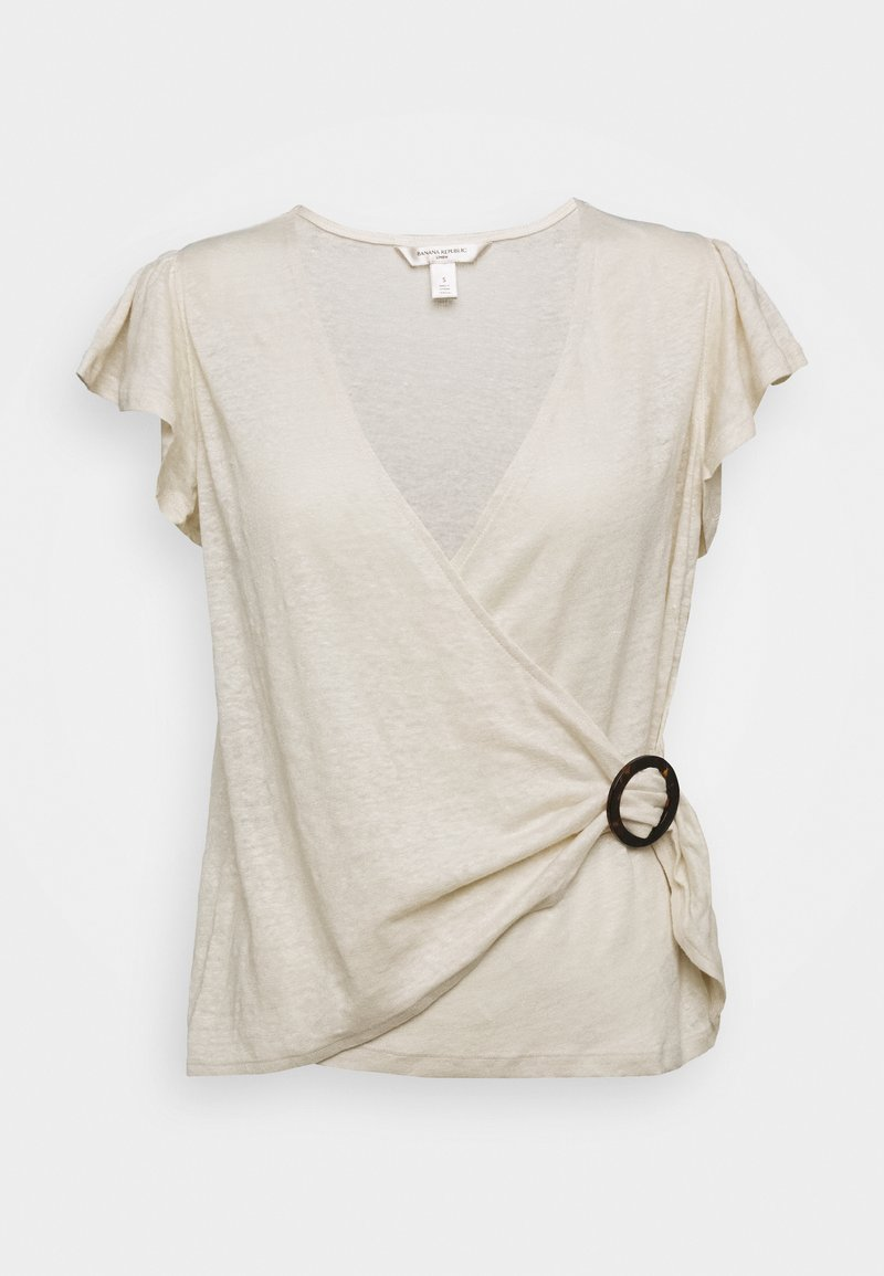 Banana Republic - WRAP WITH TORTOISE HARDWARE - T-shirt con stampa - sand