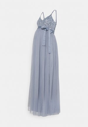 STRIPE EMBELLISHED CAMI MAXI DRESS - Vestido de fiesta - dusty blue