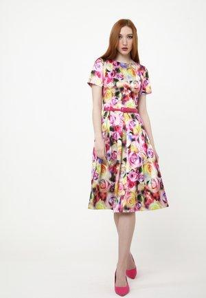 Day dress - gelb, lila