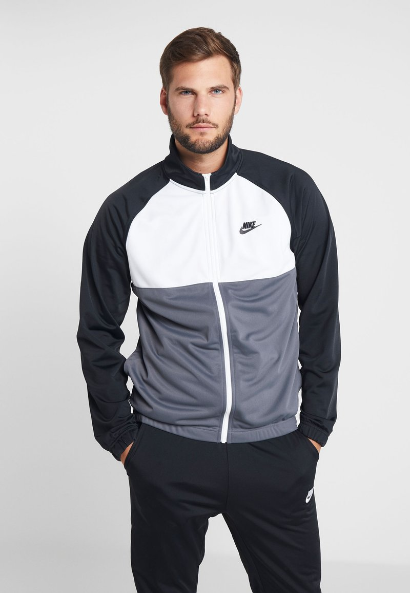 Nike Sportswear - SUIT - Tracksuit - black/dark grey/white